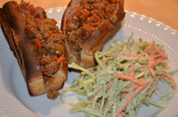 Lean Sloppy Joe's with Broccoli Slaw
