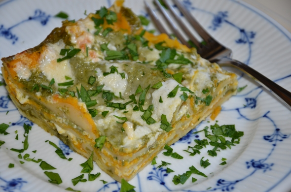 Creamy Butternut Squash Lasagna with Basil Bechamel