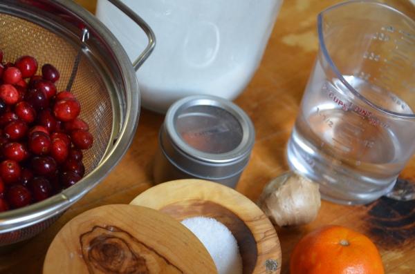 Cranberry glaze with tangerine zest