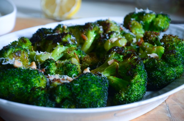Blasted Broccoli with Bagna Caudo and Marcona Almonds