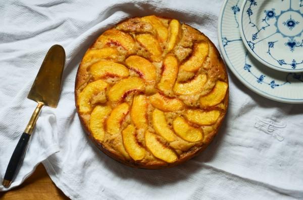 Prep Cut Peach Cake
