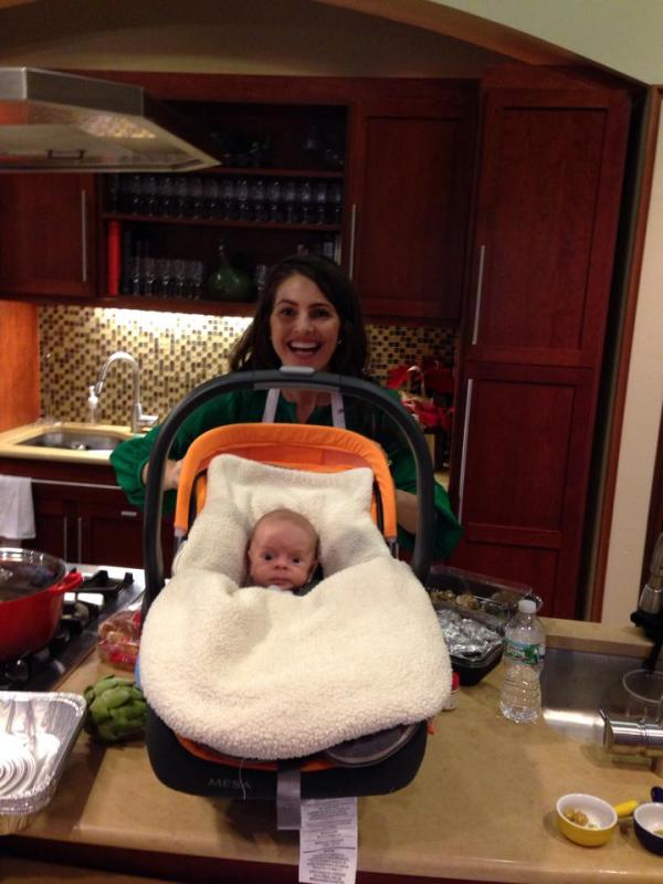 Max's first day on set.  I can't wait until he is ready for solid foods!